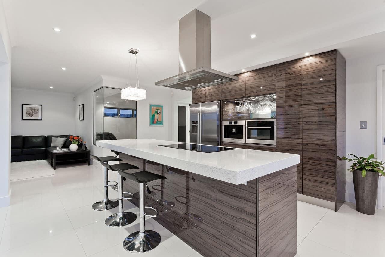 Ventilation in a modern kitchen