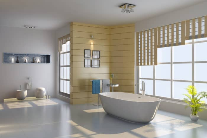 A Wet Room with a Bathtub