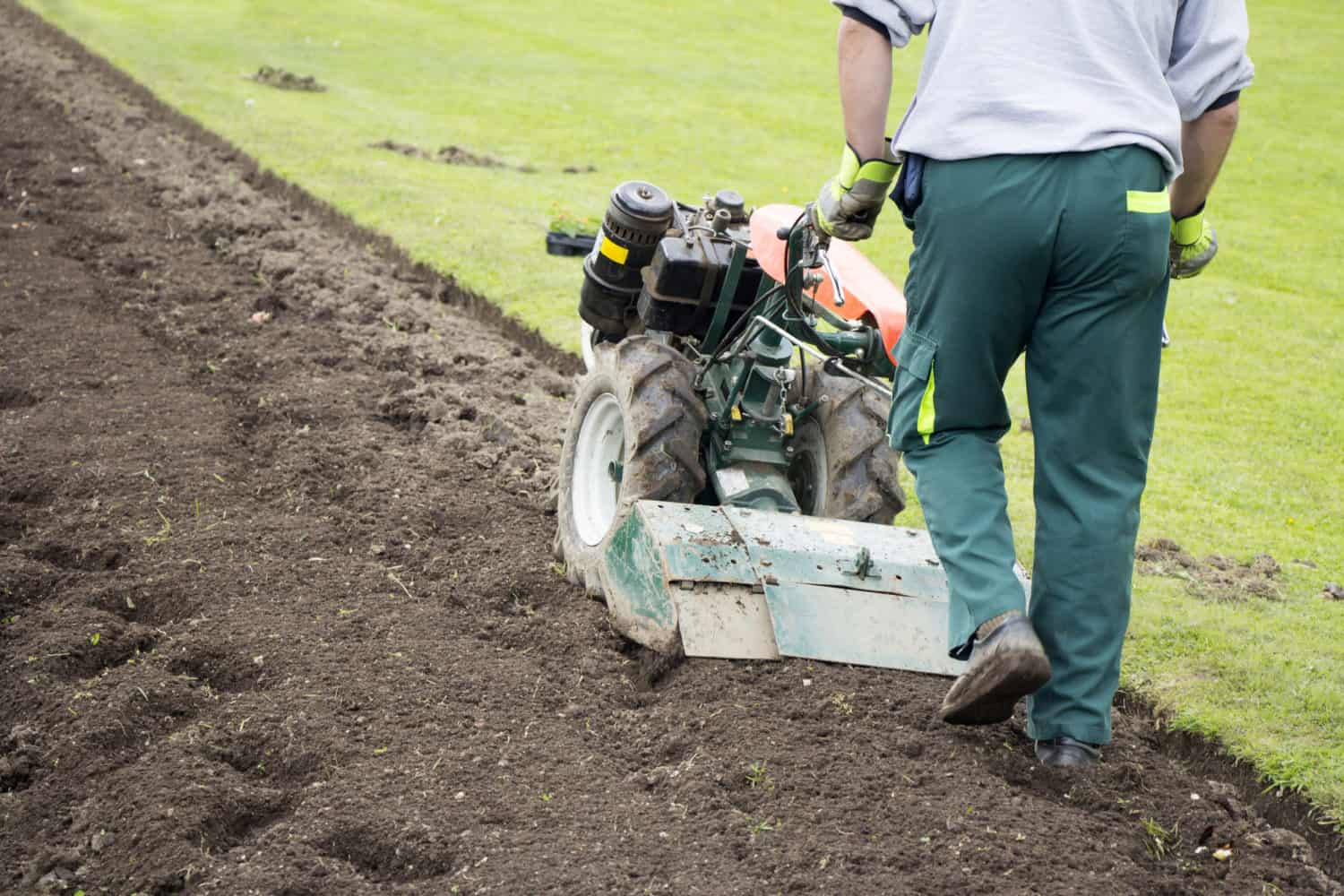 tiller to remove grass