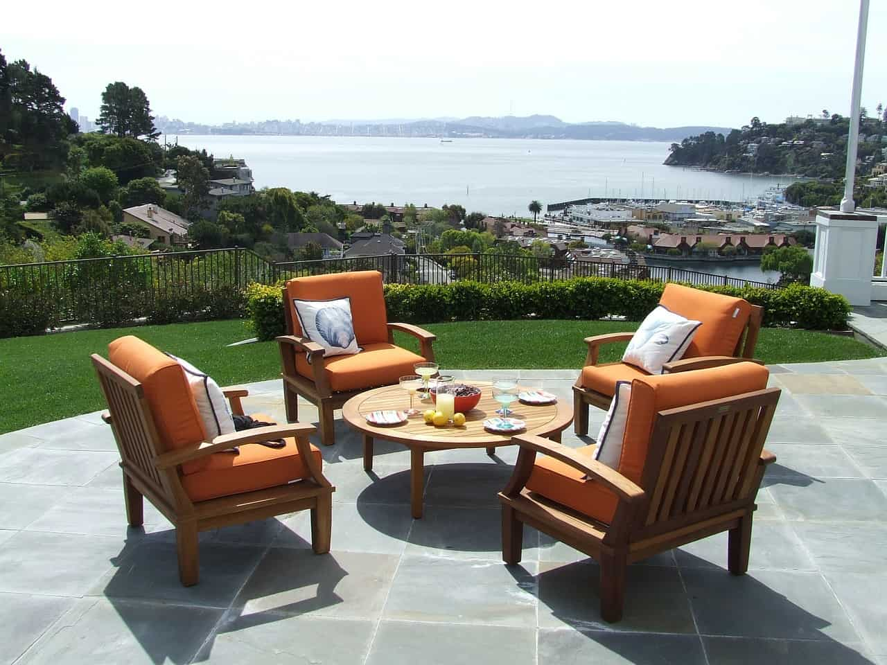 set of patio furniture
