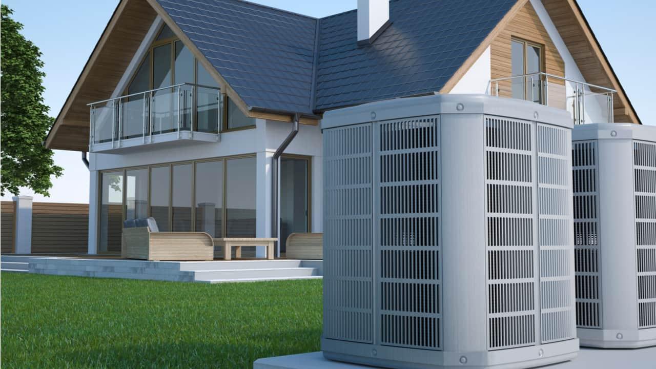 Air heat pump and a house